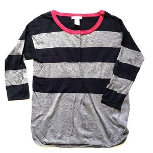 Black and Grey Stripped Sweater